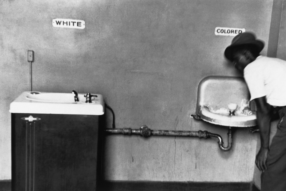 Separation of white black in North Carolina, 1950