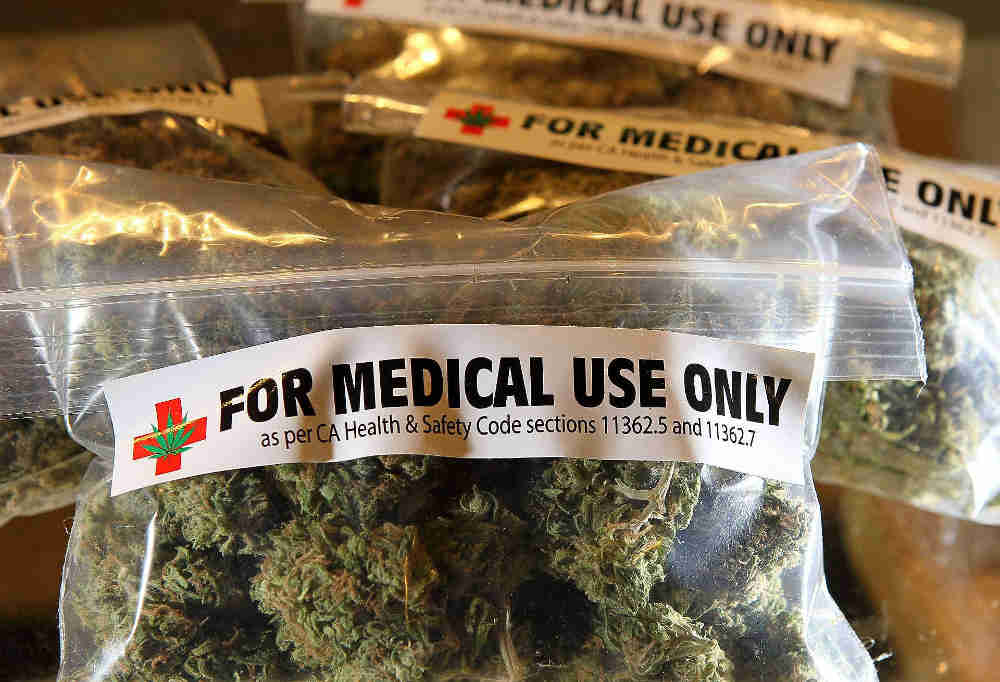 BERKELEY, CA - MARCH 25:  One-ounce bags of medicinal marijuana are displayed at the Berkeley Patients Group March 25, 2010 in Berkeley, California.  California Secretary of State Debra Bowen certified a ballot initiative late Wednesday to legalize the possession and sale of marijuana in the State of California after proponents of the measure submitted over 690,000 signatures. The measure will appear on the November 2 general election ballot.  (Photo by Justin Sullivan/Getty Images)