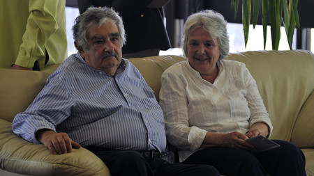 Ride with the president! Uruguay's Mujica picks up a young hitchhiker