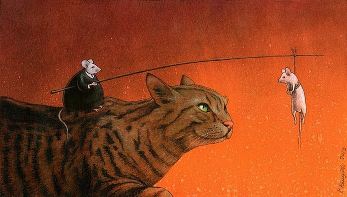 Pawel Kuczynski cat and