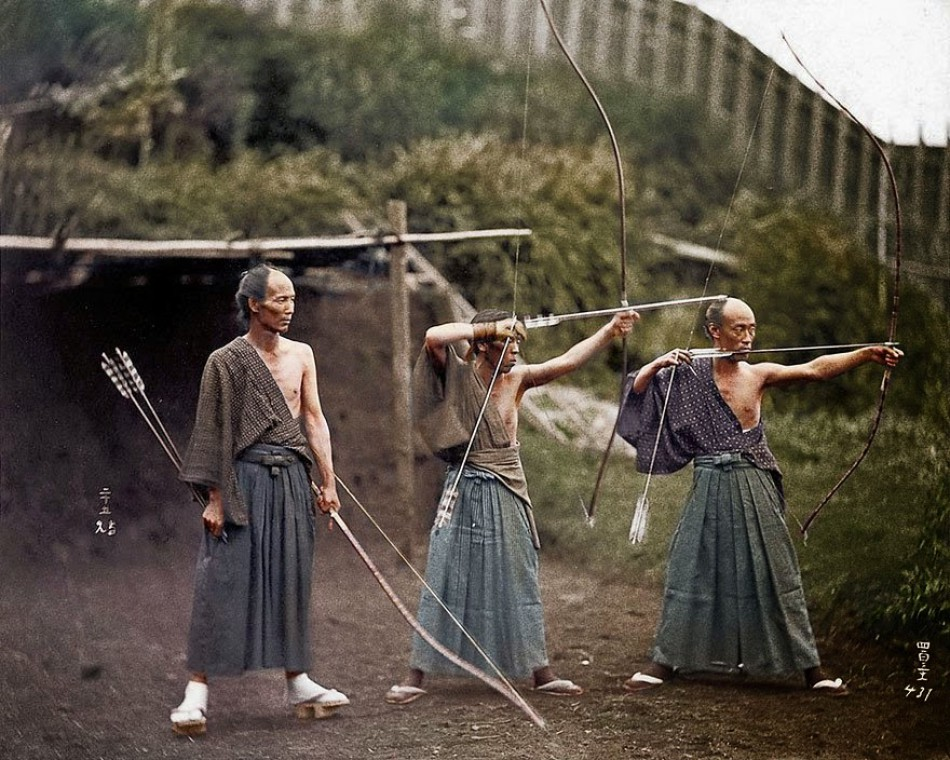 Japanese archers, approx. 1860