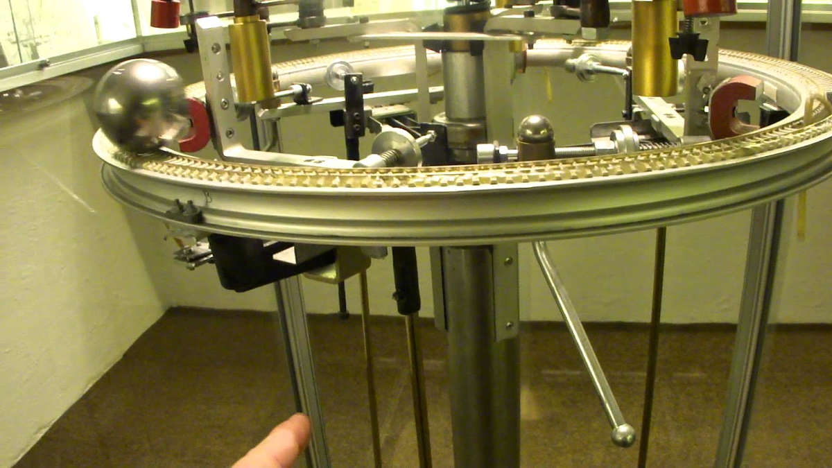 ... perpetual motion machine; a device that would continue working