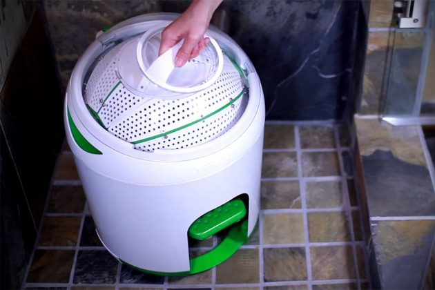 Foot-powered washing machine lets you clean your clothes off grid