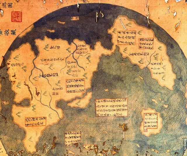 Chinese Map Of America.China Discovered America Long Before Columbus