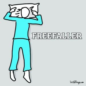 favorite way to sleep - freefaller