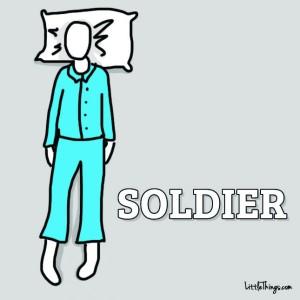 favorite way to sleep - soldier