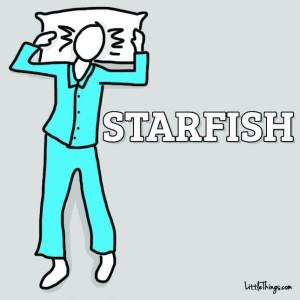 favorite way to sleep - starfish