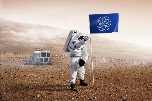 The International flag for the next mission in Space