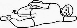 quadriceps lying down stretch