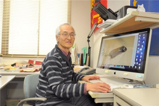 """Professor Hayashi who is called """"White Lion"""" by his students because of his white hair and big voice. Credit: Image courtesy of University of Tsukuba"""