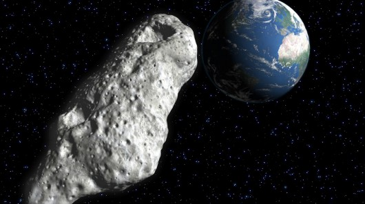 Asteroid passing close by Earth