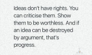 Ideas don't have rights.