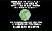 Green Moon Phenomenon on 20th April 2016