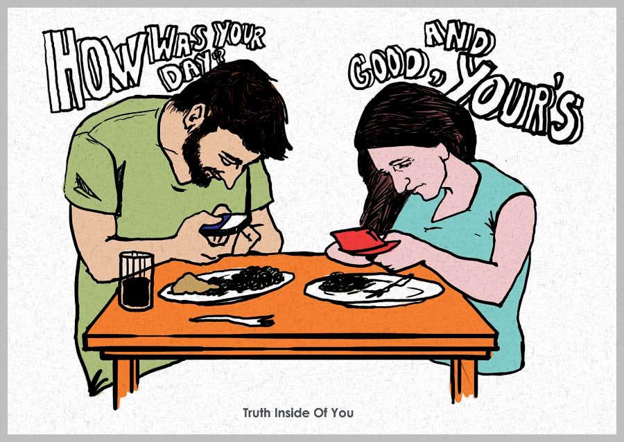 couple texting