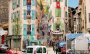 Artist from France paints colourful neighborhoods in cheerless walls.