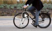 The wheel that turns the traditional bike electric!