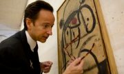Joan Miro's paints auctioned by his grandson to aid the refugees.