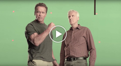 Arnold Schwarzenegger And James Cameron