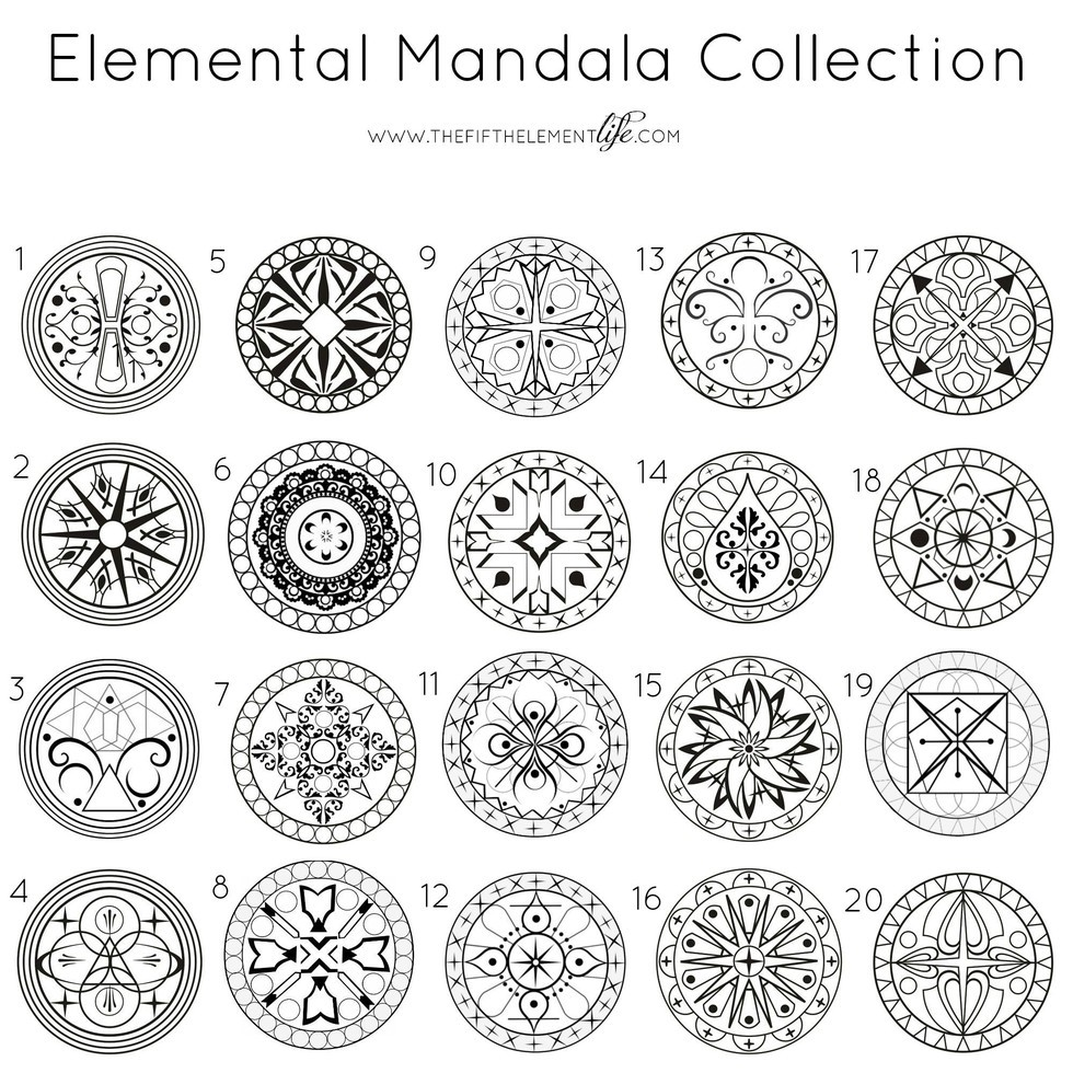 Elemental Mandala Collection