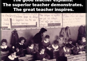 The mediocre teacher tells. The good teacher explains. The superior teacher demonstrates. The great teacher inspires.