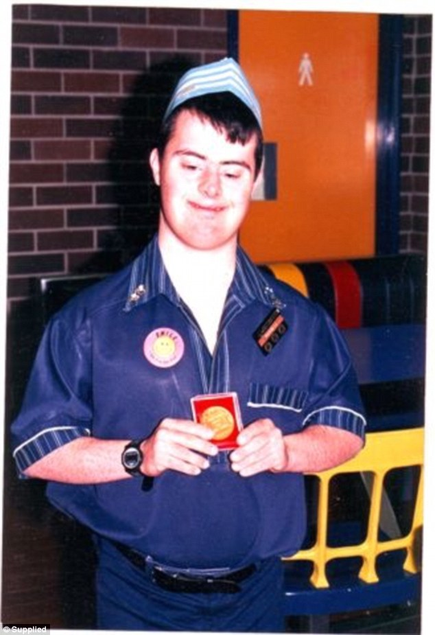Russell made a good impression on his workmates and the customers and was soon promoted to a secure position with the Northmead McDonald's (photo taken in 1987, one year after he started the job)