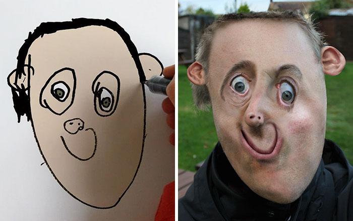 Dad Turns His 6-Year-Old Son's Drawings Into Reality And The Results Are Both Creepy And Hilarious