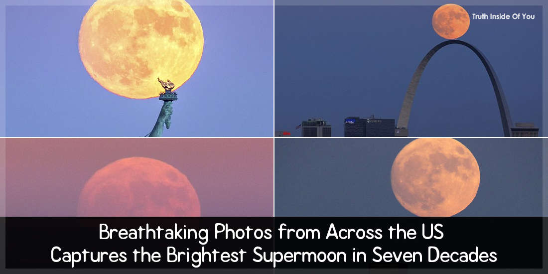 Breathtaking Photos from Across the US Captures the Brightest Supermoon in Seven Decades