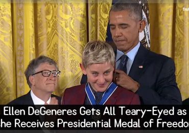 Ellen DeGeneres Gets All Teary-Eyed as she Receives Presidential Medal of Freedom
