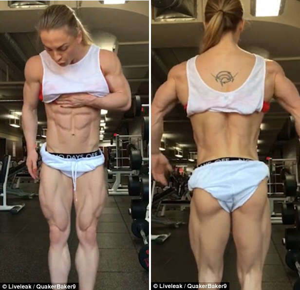 Female Bodybuilder with ZERO Per Cent' Body Fat