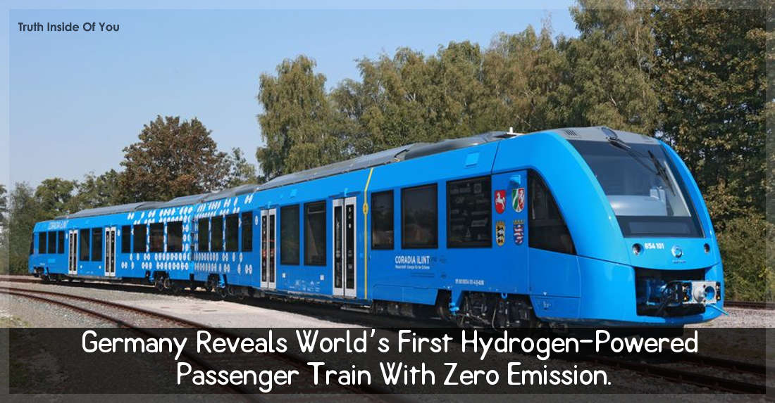 Germany Reveals World's First Hydrogen-Powered Passenger Train With Zero Emission.