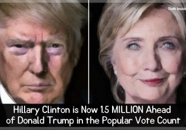 Hillary Clinton is NOW 1,5 MILLION Ahead of Donald Trump in the Popular Vote Count