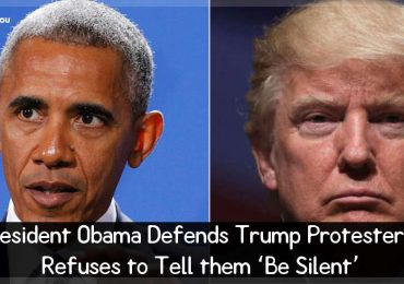President Obama Defends Trump Protesters, Refuses to Tell them 'Be Silent'