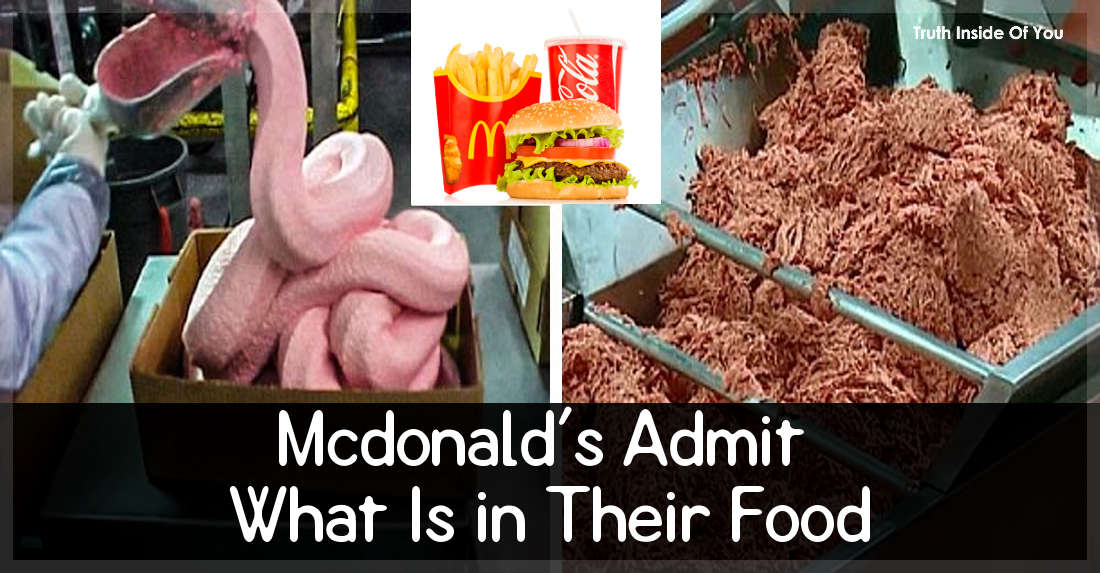 Mcdonald's Admit What Is in Their Food