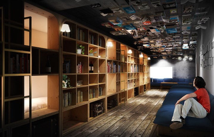 Want to Sleep in a Library Try a Book and Bed Hostel! (3)
