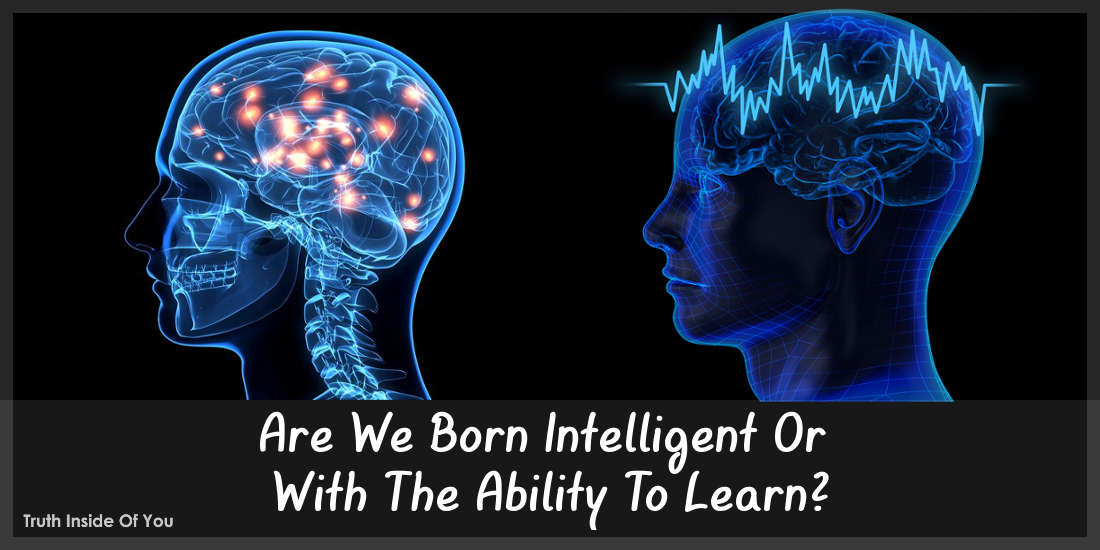 Are We Born Intelligent Or With The Ability To Learn?