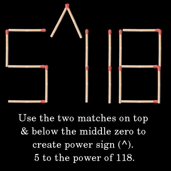 Answer 4 5 to the power of 118