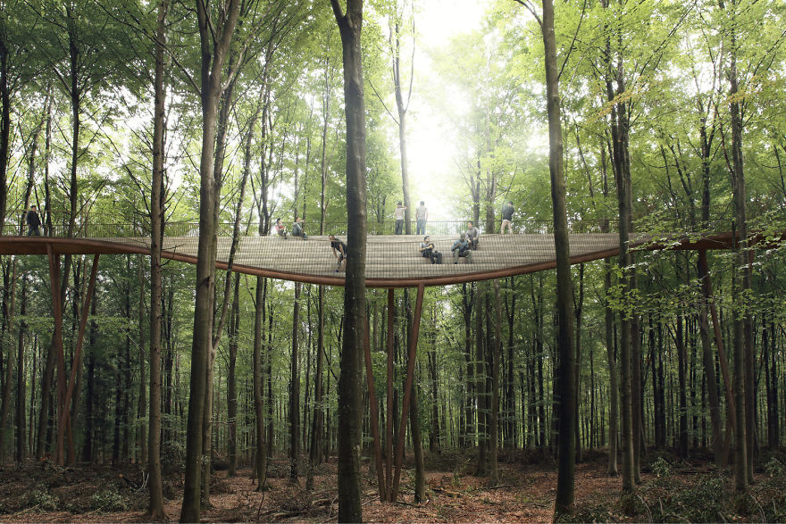 Circular Staircase Over The Danish Forest Offer a Great Experience.7
