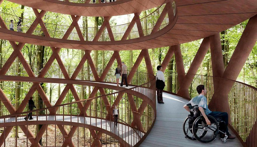 Circular Staircase Over The Danish Forest Offer a Great Experience.8