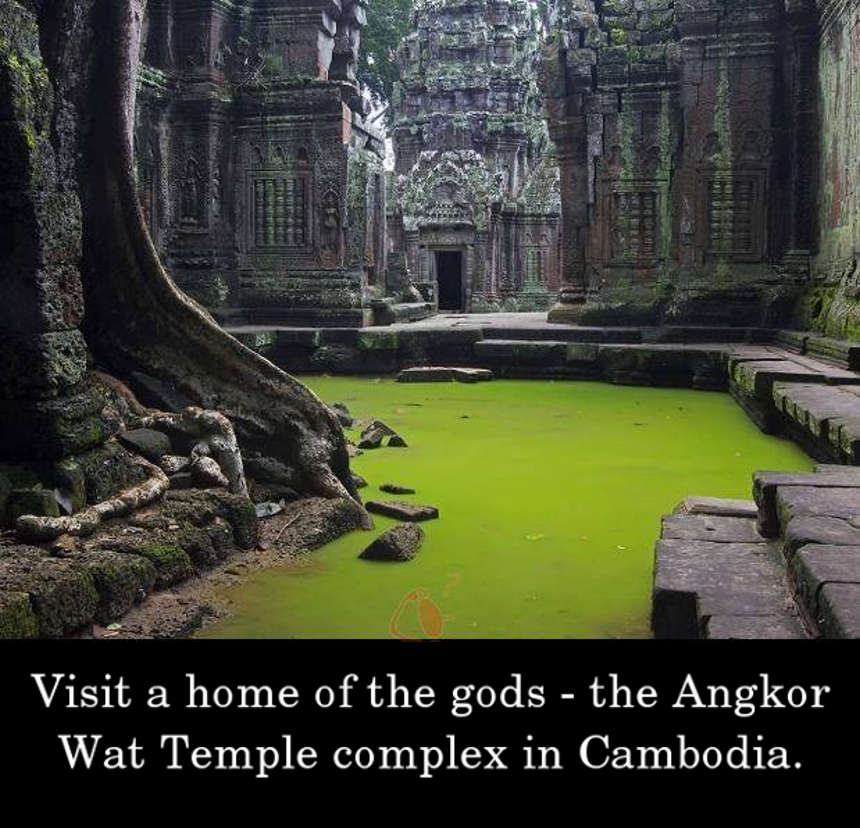 Visit a home of the gods - the Angkor Wat Temple complex in Cambodia.