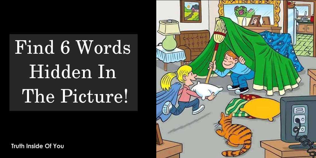 Find 6 Words Hidden In The Picture Share It When You Find It!!