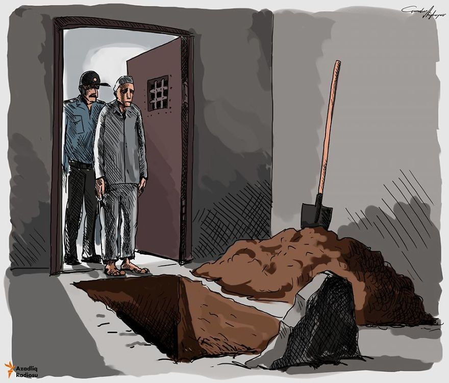 The Harsh Reality of Society Through 15 Satirical Illustrations of Gunduz Aghayev.13