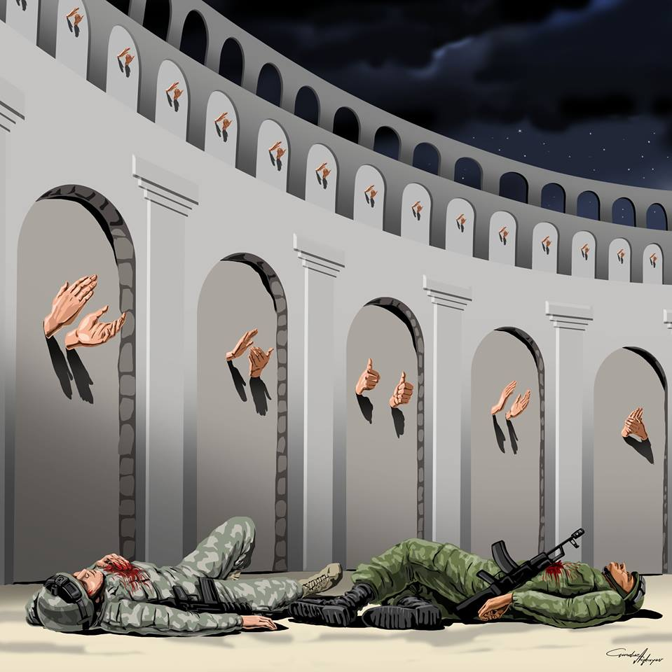 The Harsh Reality of Society Through 15 Satirical Illustrations of Gunduz Aghayev.3