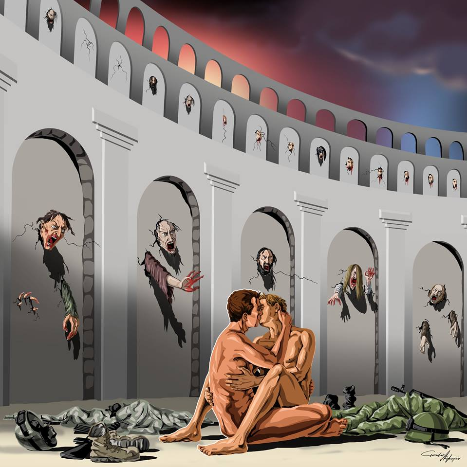 The Harsh Reality of Society Through 15 Satirical Illustrations of Gunduz Aghayev.4