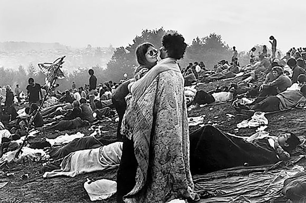 A Couple in the Midst of Woodstock 1969