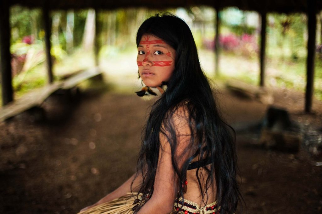 KichwaWwoman in Amazonian Rainforest