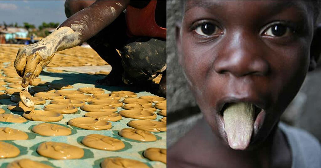 Poor People Of Haiti Eat Mud Cookies To Survive.