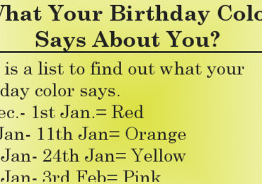 What your birthday color says about you