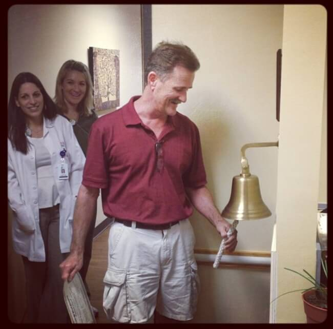 12. Ringing that Cancer Free bell!