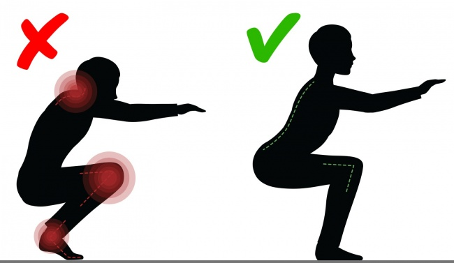 2. Do squats to stay toned
