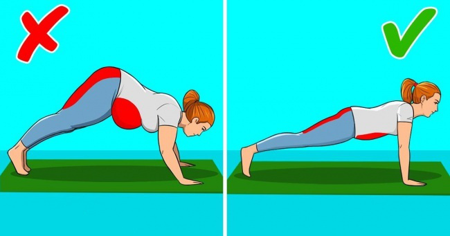 3. Do planks to stave off back aches